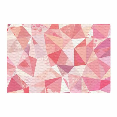 Nic Squirrell Crumpled Geometric Pink Area Rug Rug Size: 4 x 6