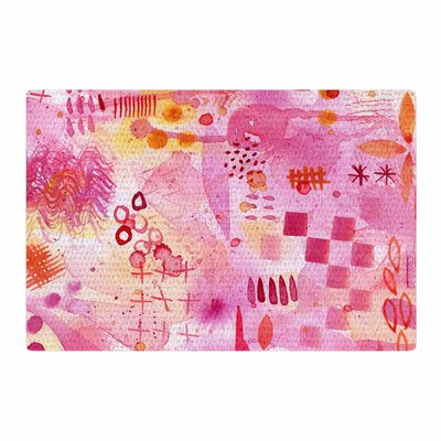 Nic Squirrell Sweet Dreams Abstract Pink Area Rug Rug Size: 2 x 3