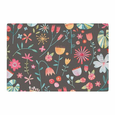 Nic Squirrell Wayside Flowers Area Rug Rug Size: 4 x 6