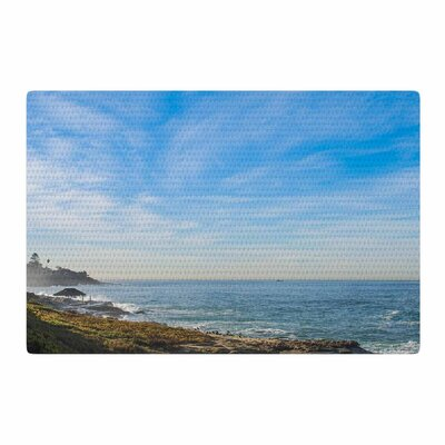 Nick Nareshni Sky Over the Ocean Coastal Blue/Teal Area Rug Rug Size: 4 x 6