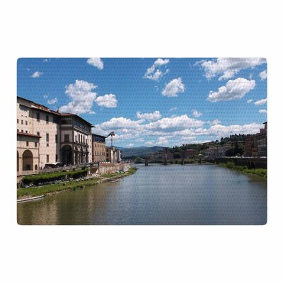 Nick Nareshni Canals of Italy Travel Blue Area Rug Rug Size: 2 x 3