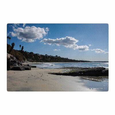 Nick Nareshni Clouds over Swamis Beach Blue/Brown Area Rug Rug Size: 4 x 6