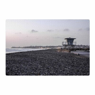 Nick Nareshni Lifeguard on the Rocks Gray/White Area Rug Rug Size: 2 x 3