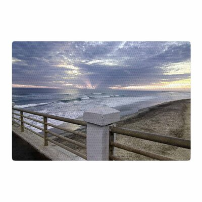 Nick Nareshni Oceanside Pier at Sunset Coastal Photography Blue/Gray Area Rug Rug Size: 2 x 3