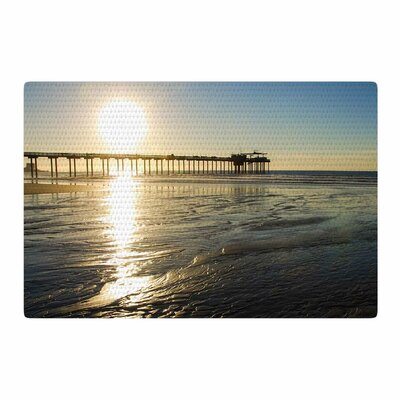 Nick Nareshni Sun Over Scripps Pier Tan/Brown Area Rug Rug Size: 4 x 6