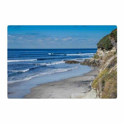Nick Nareshni Swamis Beach Blue Area Rug Rug Size: 2 x 3