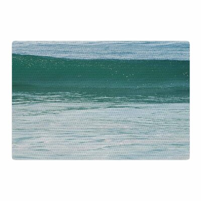 Nick Nareshni The Lone Wave Teal/Blue Area Rug Rug Size: 4 x 6