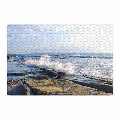 Nick Nareshni Wave Against Rocks Brown/Blue Area Rug Rug Size: 2 x 3