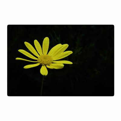 Nick Nareshni Yellow Petal Daisy Floral Photography Black/Yellow Area Rug Rug Size: 4 x 6
