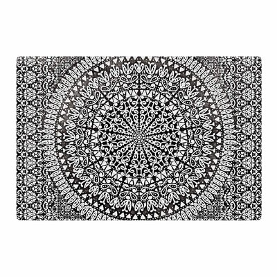 Nika Martinez Mandala Bandana Abstract Black Area Rug Rug Size: 4 x 6
