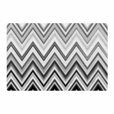 Nika Martinez Seventies Chevron Black Area Rug Rug Size: 2 x 3