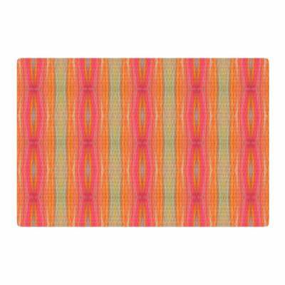 Nika Martinez Summer Tie Dye Coral/Red Area Rug Rug Size: 2 x 3