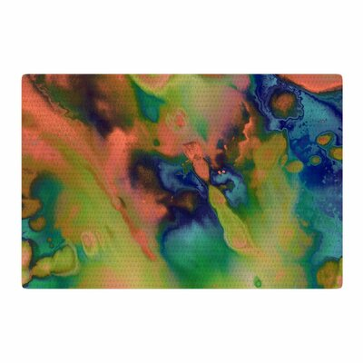 Nina May Acid Splash Down Green/Blue Area Rug Rug Size: 4 x 6