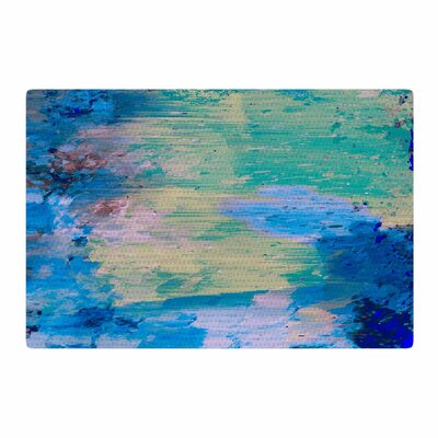 Nina May Mineral Surf Abstract Blue Area Rug Rug Size: 2 x 3