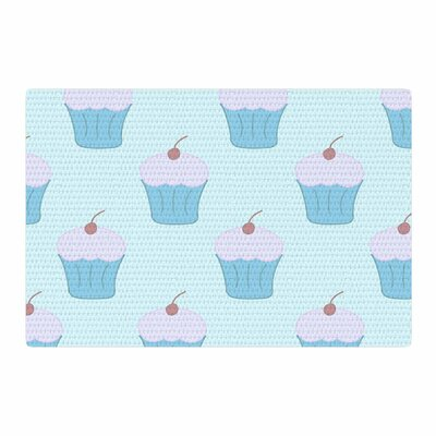 NL Designs Cupcakes Food Pastel/Blue Area Rug Rug Size: 2 x 3