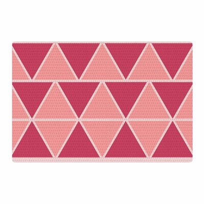 NL designs Coral Peach Triangles Patterns Pink Area Rug Rug Size: 2 x 3
