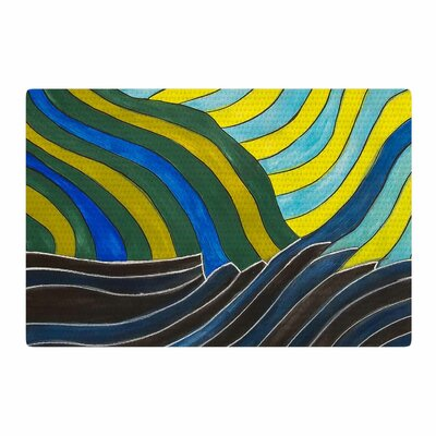 NL Designs Desert Waves Yellow/Blue Area Rug Rug Size: 4 x 6