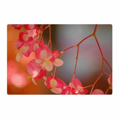 NL Designs Hanging Flowers Floral Pink Area Rug Rug Size: 2 x 3