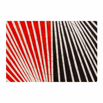 NL Designs Optical Illusions Red/Black Area Rug Rug Size: 2 x 3