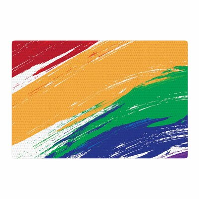 NL designs Rainbow Paint Illustration Area Rug Rug Size: 4 x 6