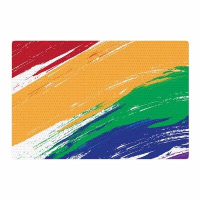 NL designs Rainbow Paint Illustration Area Rug Rug Size: 2 x 3