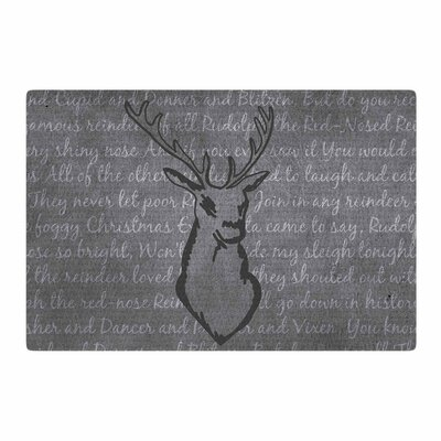 NL Designs Reindeer Gray/White Area Rug Rug Size: 4 x 6