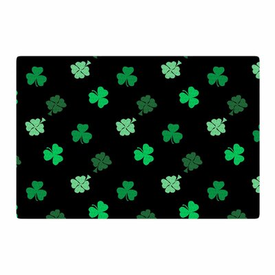 NL Designs Shamrocks Holiday Green Area Rug Rug Size: 2 x 3