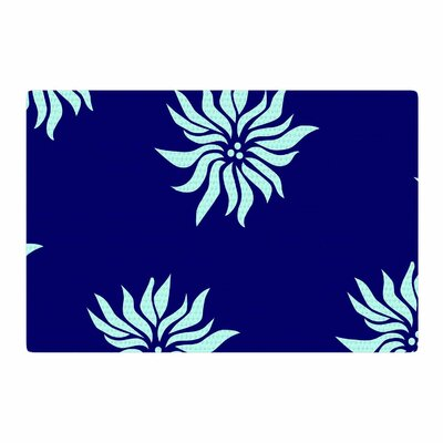 NL Designs Snow Flowers Blue Area Rug Rug Size: 2 x 3