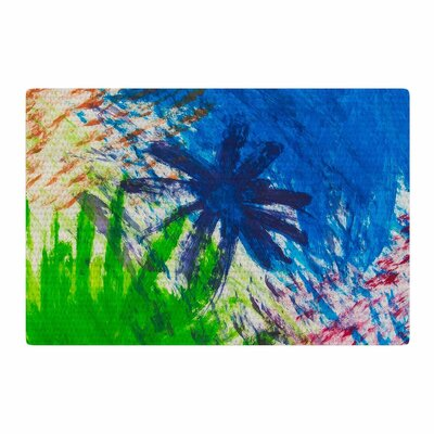 NL Designs Splatter Stars Abstract Painting Blue/Green Area Rug Rug Size: 2 x 3