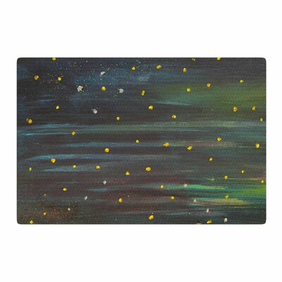 NL Designs Star Fields Blue/Green Area Rug Rug Size: 2 x 3