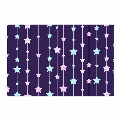 NL Designs Twinkle Twinkle LIttle Star Purple/Pastel Area Rug Rug Size: 2 x 3