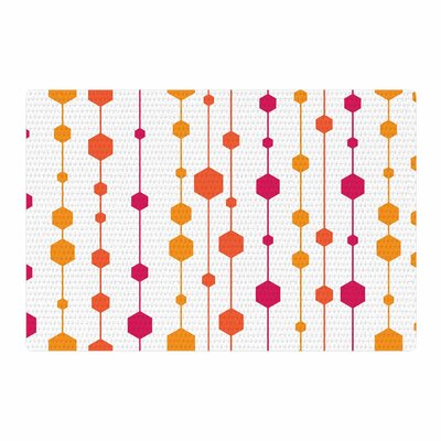 NL Designs Warm Dots Pattern White Area Rug Rug Size: 2 x 3