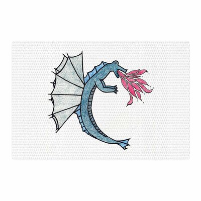 NL Designs Water Dragon Blue/White Area Rug Rug Size: 2 x 3