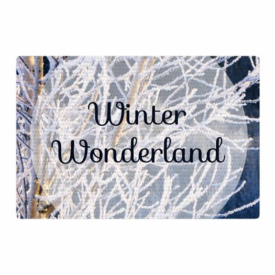 NL Designs Winter Wonderland White/Blue Area Rug Rug Size: 4 x 6