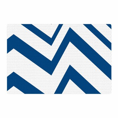NL Designs ZigZag Blue/White Area Rug Rug Size: 4 x 6