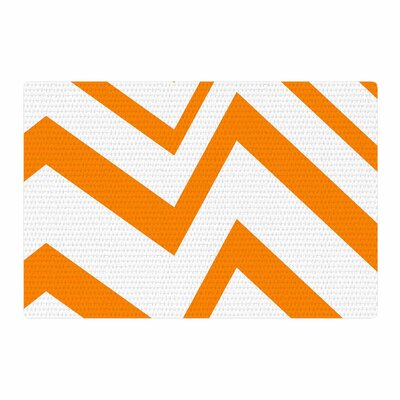 NL Designs ZigZag Orange Tangerine/White Area Rug Rug Size: 2 x 3