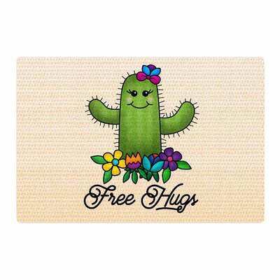 Noonday Design Free Hugs Cactus Green/Pastel Area Rug Rug Size: 2 x 3