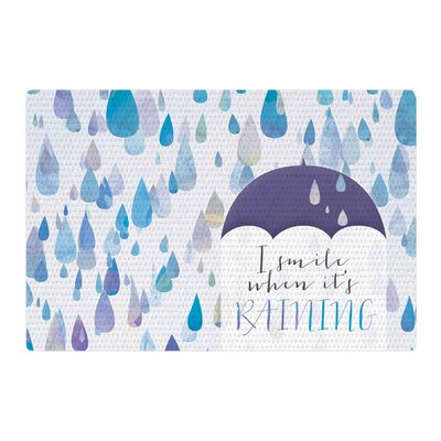 Noonday Design I Smile When Its Raining Blue/Purple Area Rug Rug Size: 2 x 3