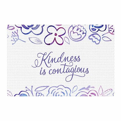 Noonday Design Kindness is Contagious Purple/Magenta Area Rug Rug Size: 4 x 6
