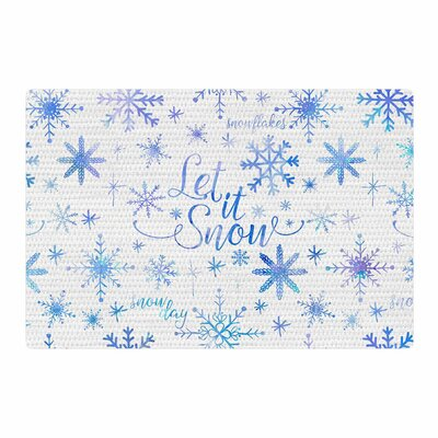 Noonday Design Let It Snow Winter Pattern Blue/Purple Area Rug Rug Size: 2 x 3