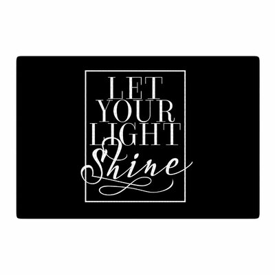 Noonday Design Let Your Light Shine Black/White Area Rug Rug Size: 2 x 3
