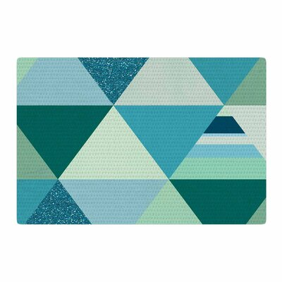Noonday Design The Triangle Blues Geometric Blue Area Rug Rug Size: 4 x 6