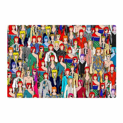 Notsniw	 Wheres Bowie? Red/Black Area Rug Rug Size: 2 x 3