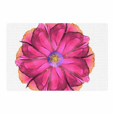 Oriana Cordero Athena-Flower Pink/Lavender Area Rug Rug Size: 4 x 6