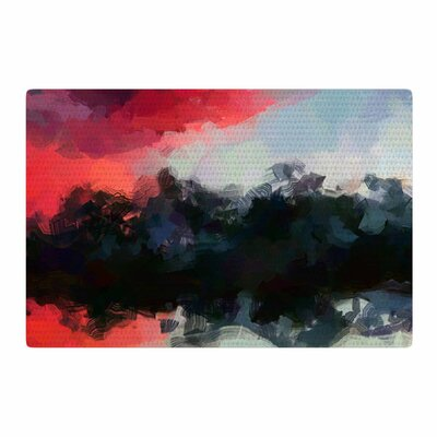 Oriana Cordero Montserrat Pink/Black Area Rug Rug Size: 2 x 3