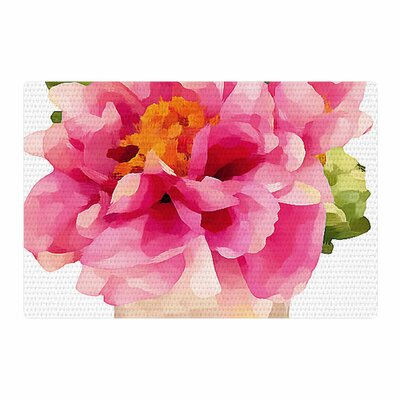 Oriana Cordero Peonies Pink/Green Area Rug Rug Size: 4 x 6