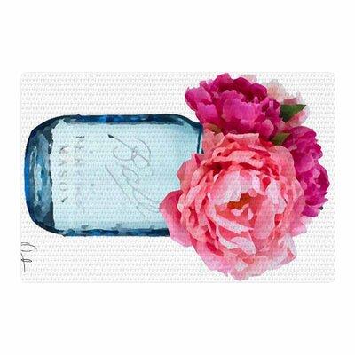 Oriana Cordero Perfect Mason Blue/Pink Area Rug Rug Size: 4 x 6