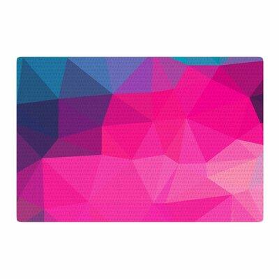 Oriana Cordero Poly-Sunrise Pink/Purple Area Rug Rug Size: 2 x 3