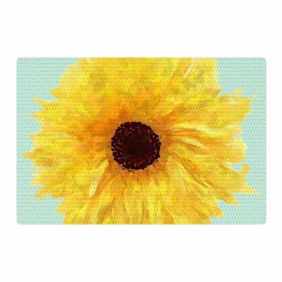 Oriana Cordero Sol Seafoam Yellow Area Rug Rug Size: 2 x 3