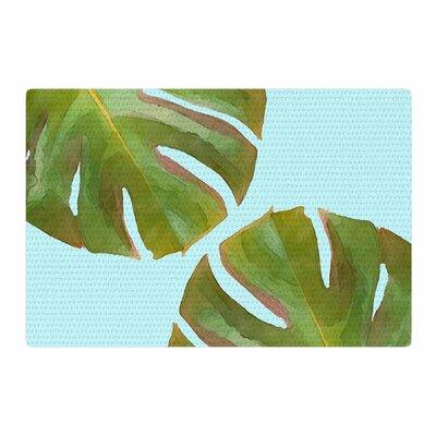 Oriana Cordero Tropico V2 Aqua/Green Area Rug Rug Size: 4 x 6